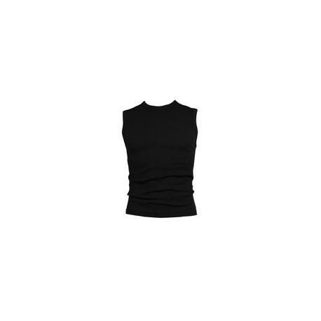 Heren mouwloos shirt M3000. Zwart.
