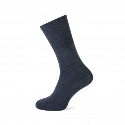 katoenen herensok, zonder elastiek, voor gevoelige benen. Donker grijs-690. art.nr.3108