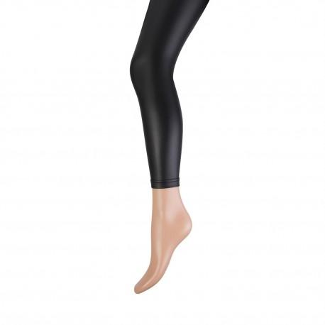 Legging Marianne brushed leatherlook, Zwart. art.nr.20067
