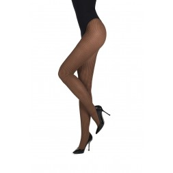 Panty MM Pied de Poule. Black/Chestnut. 87384