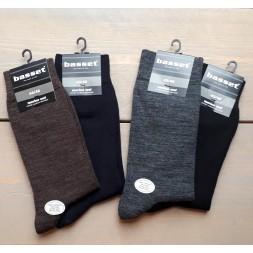 Merino wollen sokken, Bruin melange. 6542