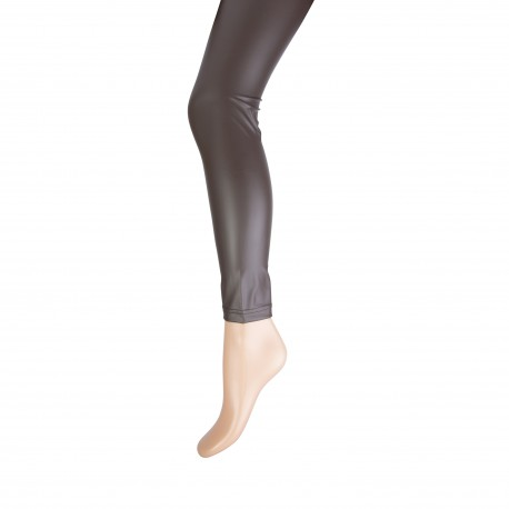Legging Leatherlook Hazelnoot c1900. 20083