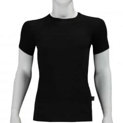 BIO COTTON T-Shirt ronde hals 2-pack. Zwart