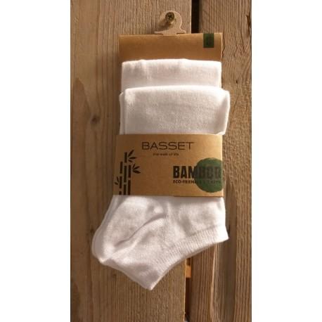 Bamboo enkelsok 2-pack Wit, 31010
