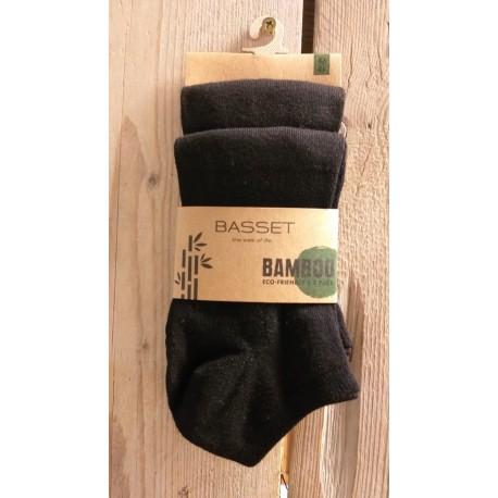 Bamboo enkelsok 2-pack Zwart, 31010